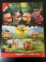 2000 McDonalds Dinosaur Complete Set Of 8, Puppets And Figures. New In Package