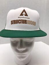 Vintage Weyerhaeuser Paper Structurwood Mesh Trucker Hat Cap Advertisement