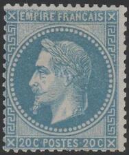 "FRANCE STAMP TIMBRE N° 29 A "" NAPOLEON III 20c BLEU TYPE I"" NEUF x TB SIGNE J788"