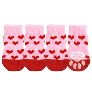 4pcs Dog Socks for Small Dogs to Stop Licking Pet Puppy Non Skid Paw Protection