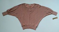 DKNY Jeans Sweatshirt Delivery A Knit Top Womens Size Large Pink KCMUS258 New