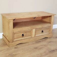 Corona Flat Screen TV Unit 2 Drawer Mexican Solid Pine by Mercers Furniture