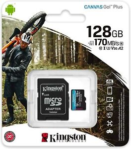 Kingston Micro SD Memory Cards 16GB 32GB 128GB with MicroSD to SD Adapter