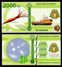 RARE ★ ILE EUROPA ● TAAF / COLONIE ● BILLET POLYMER 2000 FRANCS ★ N.SERIE 000007