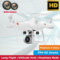 US Wide Angle Lens Camera Quadcopter RC 2.4GHz Drone WiFi FPV Helicopter 3D Flip