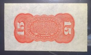 15 Cent PMG 64 Grant Sherman RED back Fractional Specimen FR 1273-5 spwmb NICE!