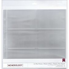 """American Crafts Side-loading Page Protectors 12""""x12"""" 10/pkg-(6) 6""""x4"""" Pockets -"""