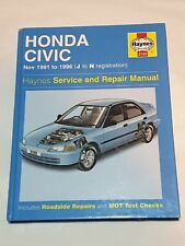Haynes Honda Civic Workshop Manual : Nov 1991 - 1996 (J to N Reg)