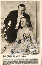 More details for promotional postcard for anne ziegler & webster booth .signed ! scarce !