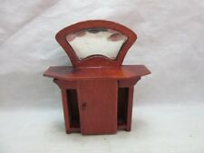 Mini wood wash stand with mirror for Doll House