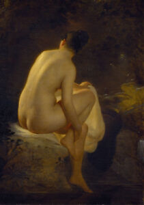 """high quality oil painting handpainted on canvas """"Girl Bathing"""""""