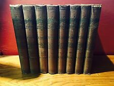 THE WORKS OF WILLIAM MAKEPEACE THACKERAY-- 8 VOLUME (1890's, Illus., Hardcover)