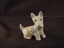 Vintage Scotty Scottish Japan TERRIER Puppy Dog Figurine Blue White Miniature