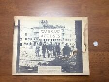 SCARCE WWII 1945 Warsaw Accuses Booklet Poland German Army Luftwaffe Bombing