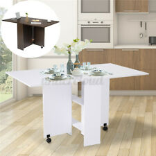 Rolling Kitchen Dining Table Storage Trolley Folding Room Breakfast Furniture