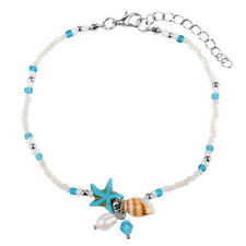 European and American Fashion Sea Star Shell Snail Sea Turtle Turquoise Anklets