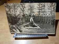 1930's Russian Photo Kuban Cossacks Attending Funeral Group Shot Around Grave