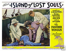 ISLAND OF LOST SOULS LOBBY SCENE CARD #3 POSTER 1932 aka THE ISLAND OF DR MOREAU