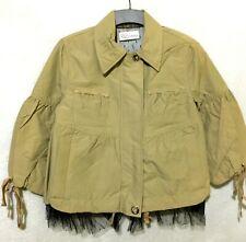 Red VLTNO Beige coat  with tulle  bow details