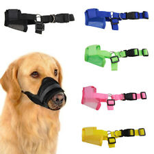 Pet Dog Puppy Adjustable Mesh Breathable Safety Anti Bark Bite Mouth Muzzle Us