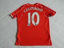 LIVERPOOL 2014-15 FOOTBALL HOME SHIRT JERSEY COUTINHO 10 ,MENS MEDIUM