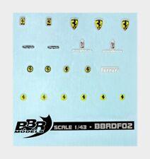 1:43 Bbr Ferrari Decals High Quality With Threads Of Real Chrome BBRDF02 Model