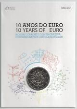 2 Euro Gedenkmünze 2012 aus Portugal, 10 Jahre Euro Bargeld, Coincard, st