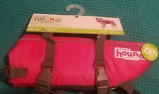 Outward Hound Ripstop Dog Life Jacket Pink/Grey Size: Medium, 30-55lbs, 21-27in