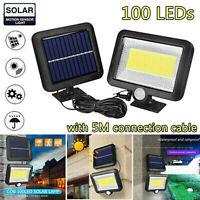 100LED COB Solar Lamp Motion Sensor Waterproof Outdoor Garden Walkway Yard Light