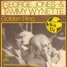"GEORGE JONES & TAMMY WYNETTE ‎– Golden Ring (1976  COUNTRY SINGLE 7"" HOLLAND)"