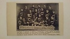 Central High School Cleveland Ohio 1900 Football Team Picture