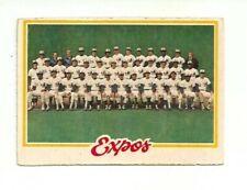 MONTREAL EXPOS TEAM BASEBALL CARD #207 1978