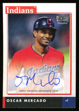 OSCAR MERCADO 2020 Topps Archives Snapshots AS-OM Indians AUTO