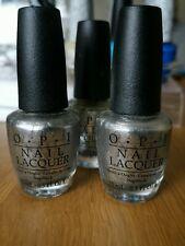Genuine OPI Shiny Silver Chrome Nail Polish 15ml Turn On The Haute light