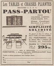 Z8163 Les Tables et Chaises Pliantes PASS-PARTOU - Pubblicità d'epoca - 1930 Ad