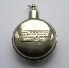 VINTAGE ANTIQUE HAND WARMER. POCKET WATCH SHAPE. FRENCH. SILVER PLATED BRASS.