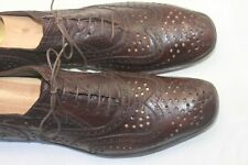 Gianni Barbato Brown Perforated Wingtip Oxford Dress shoe Size 45