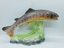 Leaping Salmon Lustreware Piece on Green Base - Marked as Foreign