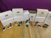 Department 56 Hertiage Village Collection Lot of (5) Children Presents Town Snow