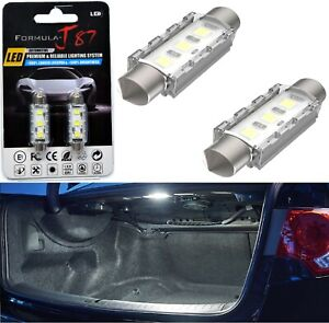 LED 5W Light CANbus 43-44MM White 6000K Two Bulb Trunk Cargo Replacement Upgrade