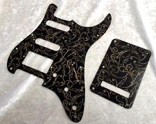 Gold Black Paisley Bakelite Pickguard fits Fender® Stratocaster® Strat®  HSS set