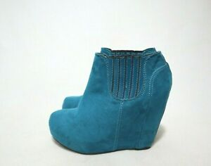 Size 10 Womens Platform Wedge Boots