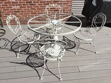 WOODARD CHANTILLY ROSE Wrought Iron Patio Furniture   4 CHAIRS ONLY PICKUP
