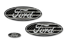 Front,Rear,Steering Wheel Decal Sticker Oval Emblem for Ford F150 2015-2017 SUBD