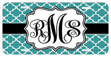 Personalized Monogrammed License Plate Auto Tag Clover Teal