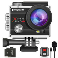 Campark Action Camera 4K 20MP EIS External Microphone Remote Control WiFi-170°