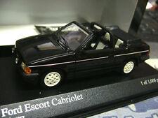 FORD Escort 3 Cabriolet Cabrio III MKIII schwarz black 1983 Minichamps 1:43