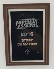 Star Wars Imperial Assault - 2016 Store Champion Winners Plaque / Trophy