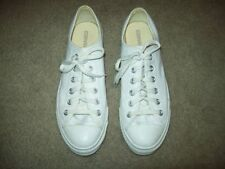 CONVERSE ALL*STARS WHITE LEATHER MEN'S 8 WOMEN'S 10 training shoes tennis casual