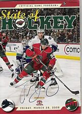 Pierre-Marc Bouchard Minnesota Wild 6 1/2 x 9 signed Game Program with Coa